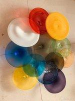 Личный Круг Хрустальные Выдувные Стеклянные Тарелки Современное Художественное Оформление Элегантные Витражи Тиффани Настенные Светильники Современное Домашнее Художественное Оформление