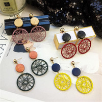 New Fashion Big Circle Dangle Earrings For Women Gold Plated...