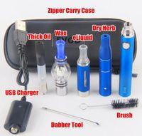 EVOD Vape Pen Kit 4 in 1 sigaretta elettronica Starter Kit Lavaggio Herb Cera vaporizzatore fa G5 CE3 serbatoio Mt3 atomizzatori Evod batteria E Cig