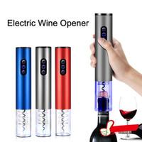 Оптовая электрический открывалка для бутылок красное вино винт автоматический беспроводной штопор бар поставки кухня открывалка для бутылок инструмент 4 цвета DBC DH0636