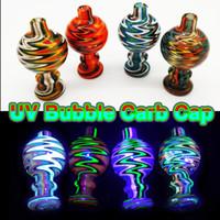 Cappuccio di vetro bolla di vetro variopinto caldo 26MMOD Cappuppi di carboidrati di vetro per il quarzo piatto del quarzo delle unghie dei chiodi di vetro del tubo del tubo di Bongs di Bongs DAB