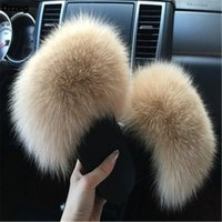 2018 Women's Furry Slippers Ladies Cute Plush  Hair Fluffy Slippers Women's Fur Winter Warm for Women Hot