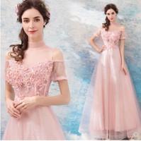 Nova Chegada Venda Quente Especial de Moda Passarela Reunião Anual Doce Gaze Fantasia Rosa Elegante Banquete Beading Luxo Longo Vestido De Maré