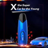 Kits de démarrage Kamry X Pod System Batterie au lithium à haut débit 650mAh intégrée avec atomiseur 2 ml pour vaporisateurs E 100% authentiques