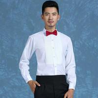 Groß- und Kleinhandel Qualitäts-Bräutigam Shirts Bester Mann Langarm-Shirt weißes Hemd Bräutigam Zubehör 01