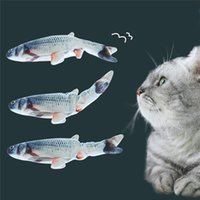 30cm Cat Wagging Fish Realistic Plush Simulation Electric Do...