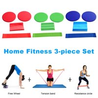3 piece  Set Yoga Fitness Skid Plate Elastic Ring Hip with R...
