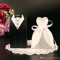 Titulares do favor do casamento sacos de doces Lotes Papel branco e preto Europeu e americano Design de casamento caixas de casamento DB-FH0001