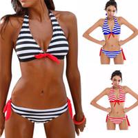 Frauen-Badeanzug Sexy Bikini-Badeanzug-Frauen-Bikini-Set gestreifte Badeanzug-Badebekleidung Beachwear-Badeanzug ST539