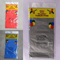 PE Plastik Masa Örtüsü Tek Doğum Günü Tatlı Masa Örtüsü Beyaz Sarı Gri Saf Renk Masa Örtüleri Sıcak Satış 1 49zy L1