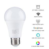Yeni Kablosuz 2.4 Akıllı Ampul ev Aydınlatma lambası 7W E27 Sihirli RGB + W LED Değişim Renk Ampul Dim IOS / Android