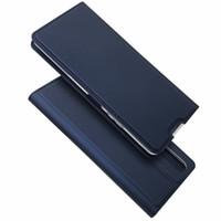 Per il caso di Kickstand protezione Xperia L4 copertura del telefono Sony Xperia 1 II / Sony Xperia 10 II Custodie Custodia in pelle raccoglitore dell'unità di elaborazione magnetica