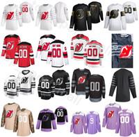 Özelleştirilmiş Yeni Formalar Devils Buz Hokeyi 29 Mackenzie Blackwood Formalar Erkekler 45 Sami Vatanen 19 Travis Zajac 37 Pavel Zacha 63 Jesper Bratt