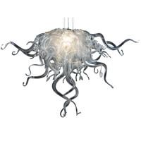 """Lámpara moderna LED Fuente de luz Lámpara de vidrio soplado Iluminación de lámparas de 32 """"de ancho o luz de techo de color claro para el dormitorio Decoración de la casa-L"""