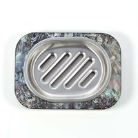 Hot New Soap Holder with Abalone Shell Horne Stripes Contain...