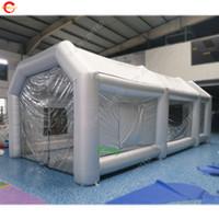 China profesional de pintura bricolaje proveedor cabina de cabina de pulverización de pintura inflable hecha en casa carpa stand de diseño de la cubierta de pintura de camiones cabinas de pintura