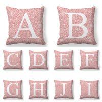 Новый шаблон Peach Бархатные кожи наволочки 26 букв английского алфавита диван подушки постельное белье наволочка Домашнее украшение 45x45cm 3 9jw D2