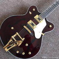 Produttori Hot Semi-Hollow Jazz Guitar Electric Hot Semi-Hollow, Hardware Gold, Personalizzato