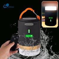 LED Kamp Lambası USB Şarj Edilebilir Fener Dim İş Işık IPX6 Su geçirmez Projektör Uzaktan Kumanda Acil Torch Asma