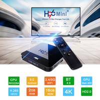H96 Mini H8 Android 9.0 Rockchip RK3228A 2.4 جرام 5G المزدوج العلامة التجارية واي فاي بلوتوث 1GB 8GB مربع التلفزيون