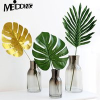 5pcs Tecido palma Artificial e Monstera Leaves havaiano do partido de Luau temático Beach Party selva Decoração Início Jardim Decoração