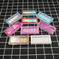 الماس لاش صناديق الكاذبة الرمش التغليف فارغة حالة الماس صندوق بلينغ بريق 3D المنك الرموش التصوير المجسم بريق