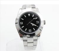 sıcak satış Klasik EXP serisi 116000 siyah Arapça dijital kadran paslanmaz çelik orijinal kayış yüksek kaliteli otomatik mekanik kol saati