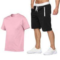 2020 Summer Sports Sportswear T Shirts + Calças Corridas Calções Conjuntos de Roupas Juntos de Esportes Treinamento Ginásio Fitness Ternos Homens Tracksuits