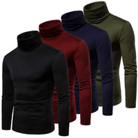 Hot Mens Thermal Turtle Neck Skivvy Turtleneck Sweaters Stre...