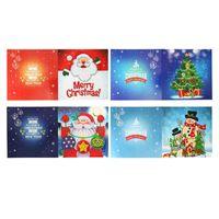 Tarjetas de felicitación 5D Tarjeta de pintura diamante DIY Festival de cumpleaños en forma especial para la decoración navideña