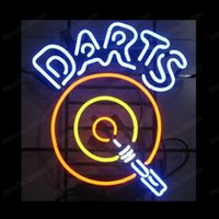 Darts Dartboard Arrow Gameroom Game Neon Sign Handmade Real ...