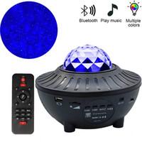 Coloré Projecteur Starry Sky LED Light Bluetooth Haut-Parleur Bluetooth joueur TF LED Night Light USB Charging Lampe de projection pour enfants