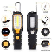 Luce del lavoro del LED USB ricaricabile Handled Work Lamp batteria incorporata impermeabile della lampada di ispezione magnetica per Outdoor