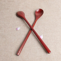 Lungo manico di legno cucchiaio di caffè vecchia lacca Retro Cucchiaio condimento Mestolo Stir articoli per la tavola della cucina Accessori 3 4zz E2