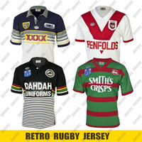 Retro Rugby Jersey 1989 Sul Sydney Rabbitohs 1991 Penrith Panthers 1995 Cowboys 1979 Dragões Nrl Rugby League Jerseys 4xl 5xl