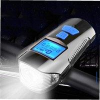 Luzes de bicicleta 4 Modo USB Bicicleta Lâmpada Lâmpada Computador 6 Chifre Ciclismo Velocímetro LED Farol do ciclo dianteiro