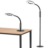 Lámpara de pie de diseño nórdico Metal negro de pie Sala de estar de pie Dormitorio LED de noche Decoración de lámparas de pie LUMINA LUMINARIA