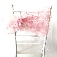 Sashes 10 шт. Romatic Pink Color Colorza Chiavari стул Sash Ruffled Cover Hood Свадебный день рождения оформление событий