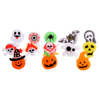 Halloween fête doigt doigt lumière lumière jouet enfants cadeau cadeau beaux jouets de lueur citrouille araignée chauve-souris Ghosten bague Halloween