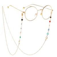 Gözlükler Halat Kayış Rhinestone Boncuk Boyun Kordon Karşıtı Gözlük Zincirleri Güneş Dize Spor gözlük aksesuarları Kayma