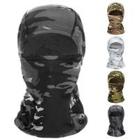 Maschera camuffamento Balaclava Full Face per CS Wargame Ciclismo Caccia Army casco della bici Liner tattico Cap Sciarpa