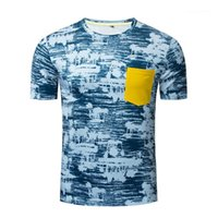 O Neck Short Sleeve Pocket Tees 20ss New Mens Tops Clothing Mens Summer Designer Tshirt Casual