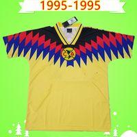 레트로 1995 멕시코 클럽 리그 CA 축구 유니폼 빈티지 Camiseta de Futbol home 95 Liga MX 축구 셔츠