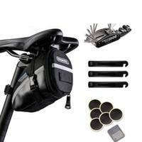 Fahrrad-Reparatur-Werkzeug-Kits Satteltasche Radfahren Sitzpaket MTB Bike Zubehör Multifunktionswerkzeug Reifeninnen Patches Reifenheber Set K510G