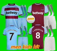 Kit enfants adultes 20 21 maillots de football de l'Ouest 2020 2021 United Chicharito HAM LANZINI ANTONIO F.ANDERSON 125 e année Retro Bilic Lampard Dicks