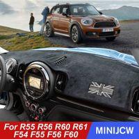 Приборной панели автомобиля Light Pad Visor Солнцезащитный Мат Ковер для Mini Cooper S JCW R55 R56 R60 R61 Clubman F54 F55 F56 F60 Countryman 4lyF #