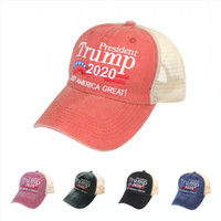Donald Trump Baseball-Mütze 2020 Make America Great Again Einstellbare Snapback Outdoor Sports Cotton Mesh-Ball-Kappe DDA162