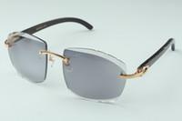 vendita diretta più recente di fascia alta dell'obiettivo di taglio fotocromatiche occhiali da sole bastoni 4.189.706-A nero di bufalo corno naturale, formato: 58-18-135 mm