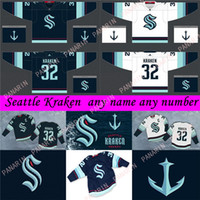 시애틀 Kraken 저지 32th 새로운 팀 하키 유니폼 2021 시즌 망 32 Kraken 21 Kraken 22 Jack Flaherty 100 % 자수 스티치 유니폼