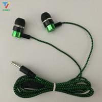 مشترك التخليص رخيصة بيع اعوج كابل جديلة نسج سماعة سماعات سماعة earcup البيع المباشر من قبل الشركات المصنعة الأزرق الأخضر